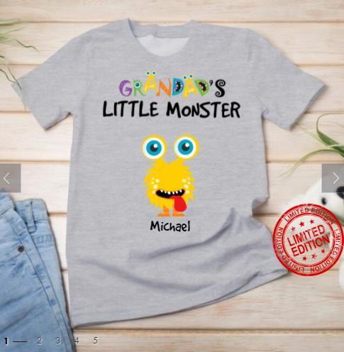 Grandad's Little Monster Michael Shirt