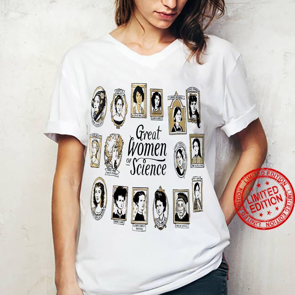 Great Women Of Science Shirt ladies tee