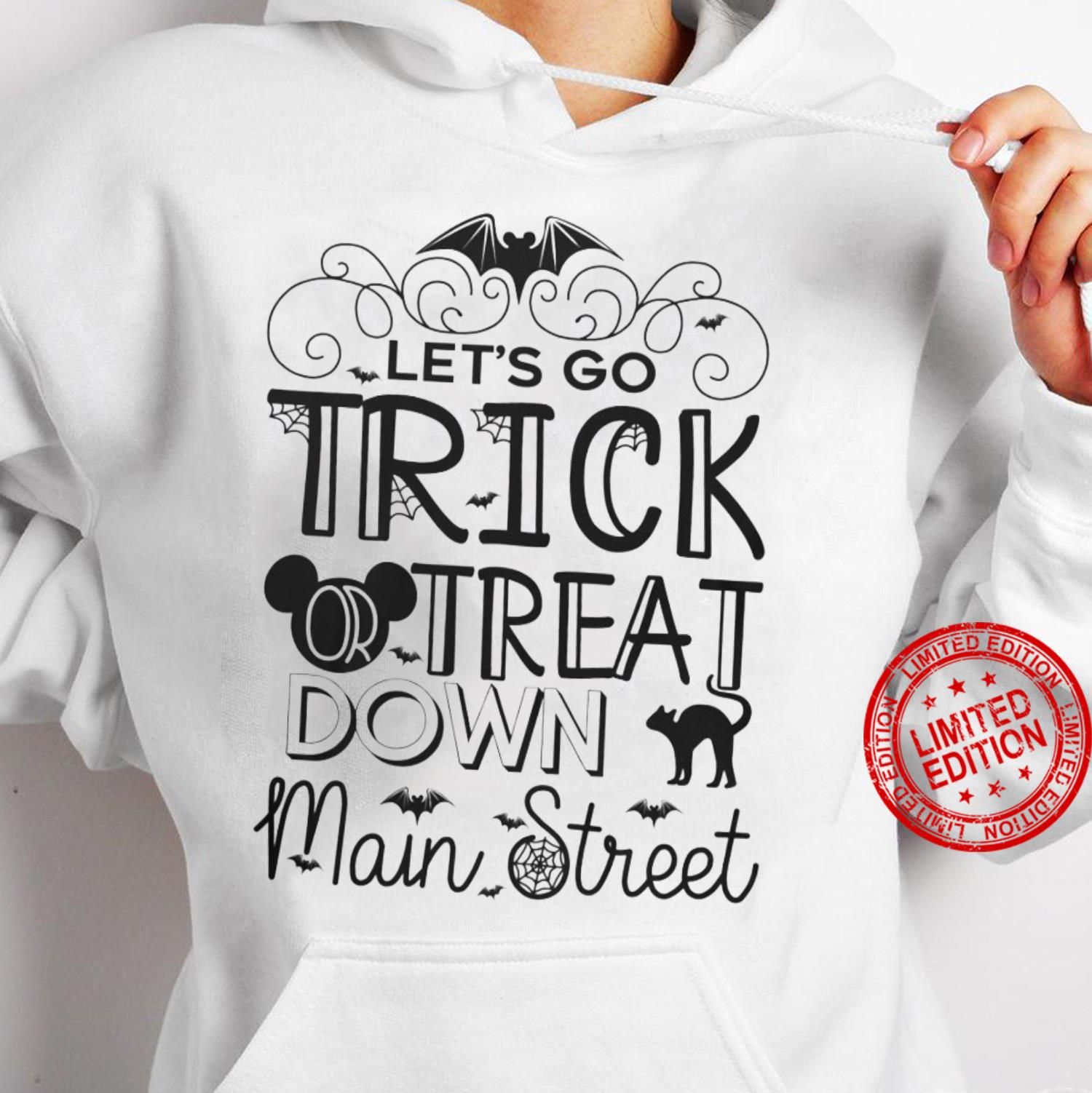 Let's Go Trick Treat Down Main Street Shirt hoodie