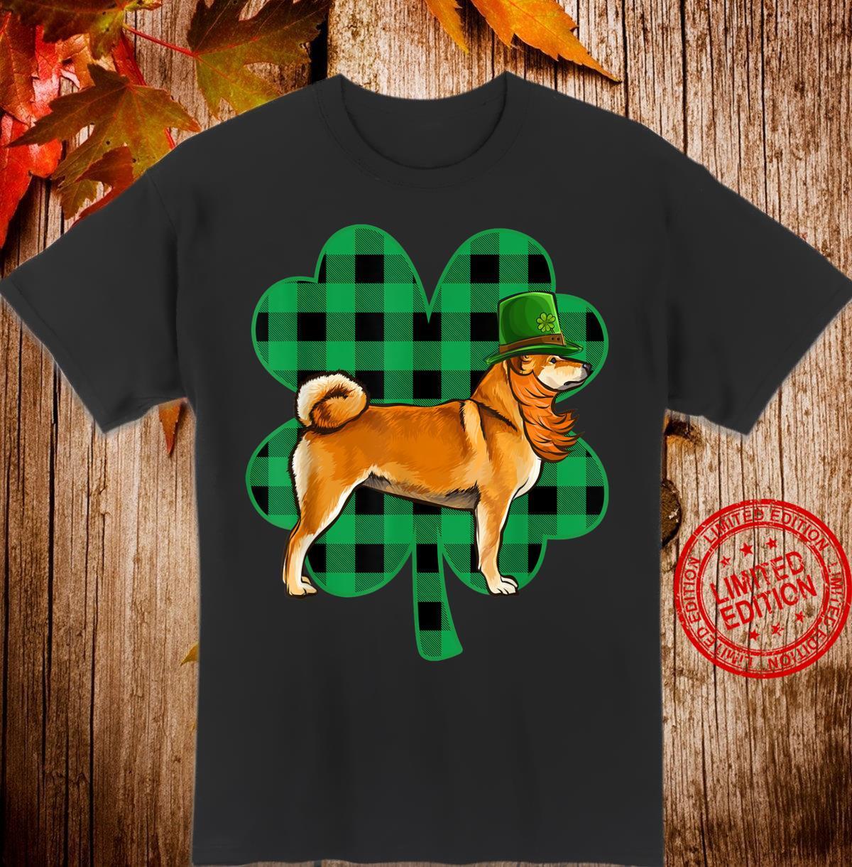 Shiba Inu Leprechaun St Patricks Day Lucky Clover Shirt