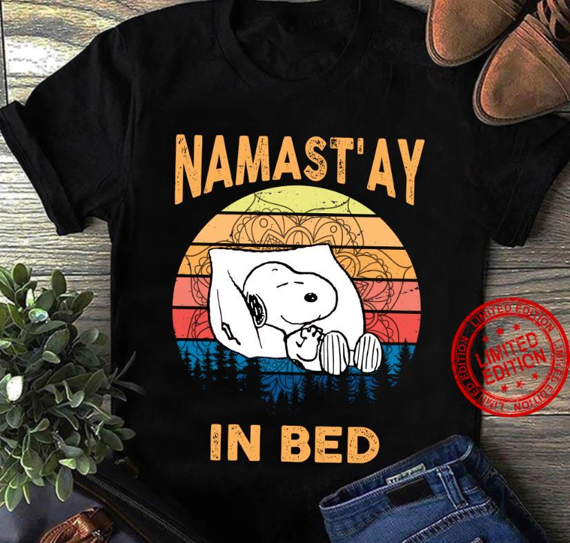 Snoopy Namastay In Bed Shirt