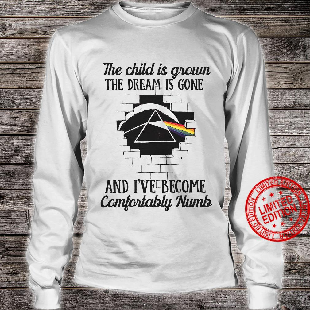 The Child Is Grown The Dream Is Gone And I've Become Comfortably Numb Shirt long sleeved