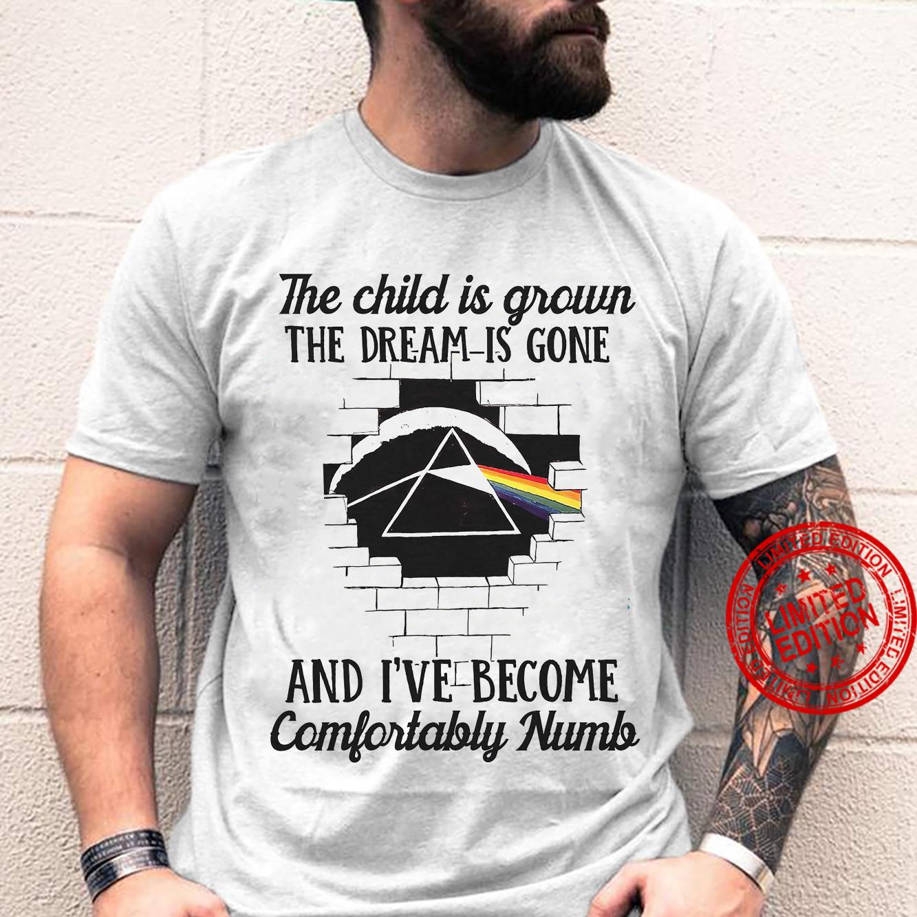 The Child Is Grown The Dream Is Gone And I've Become Comfortably Numb Shirt unisex