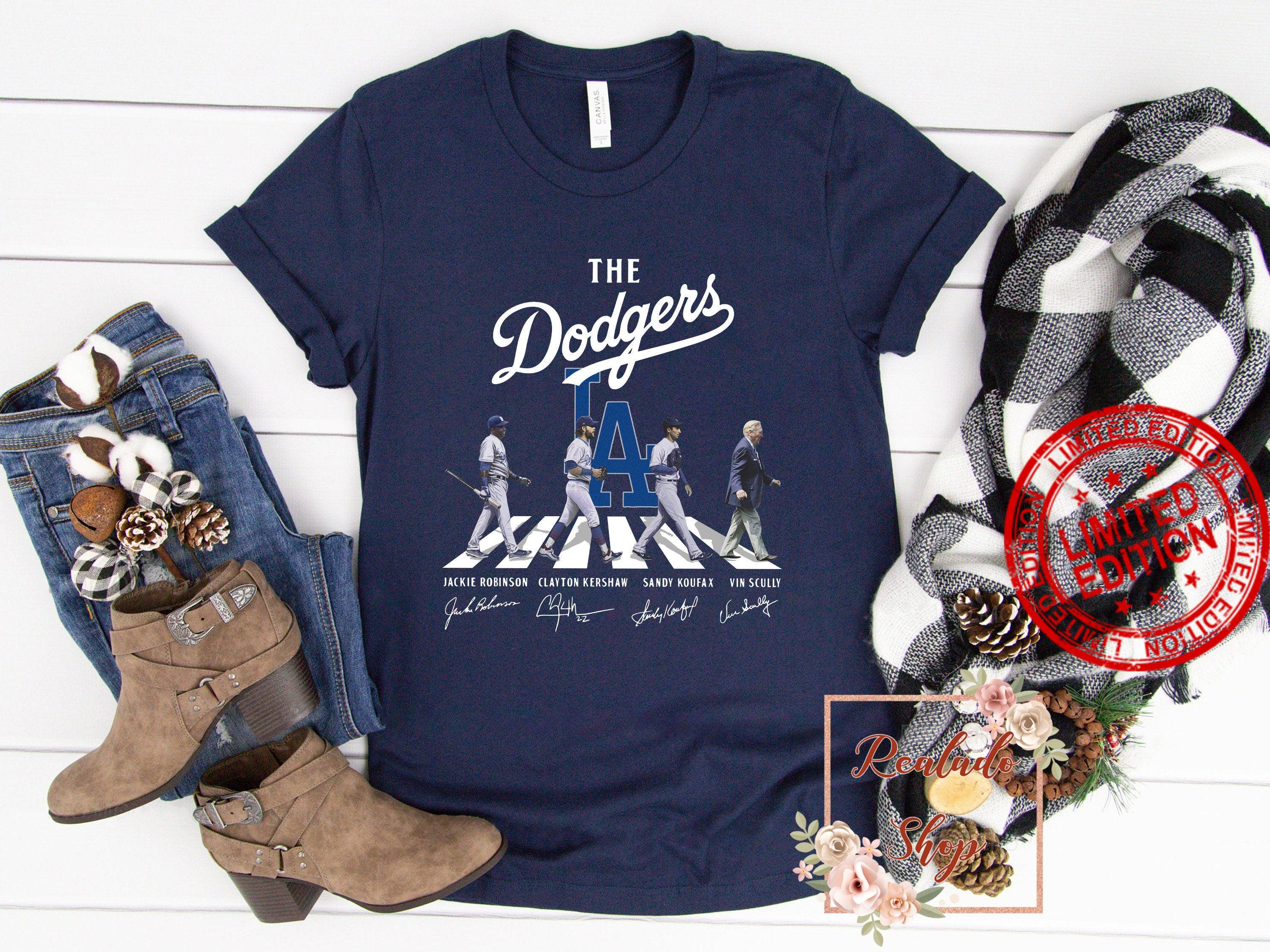 The Dodgers Abbey Road Los Angeles Dodgers Signatures Shirt