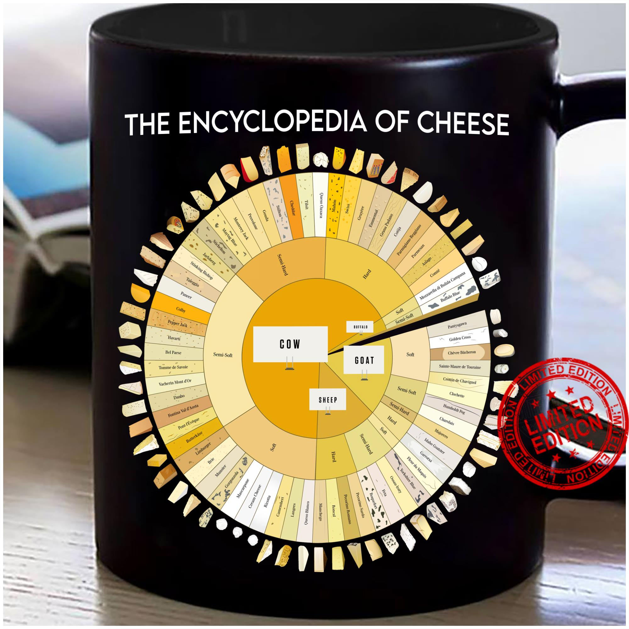 The Encyclopedia Of Cheese Cow Goat Sheep Shirt