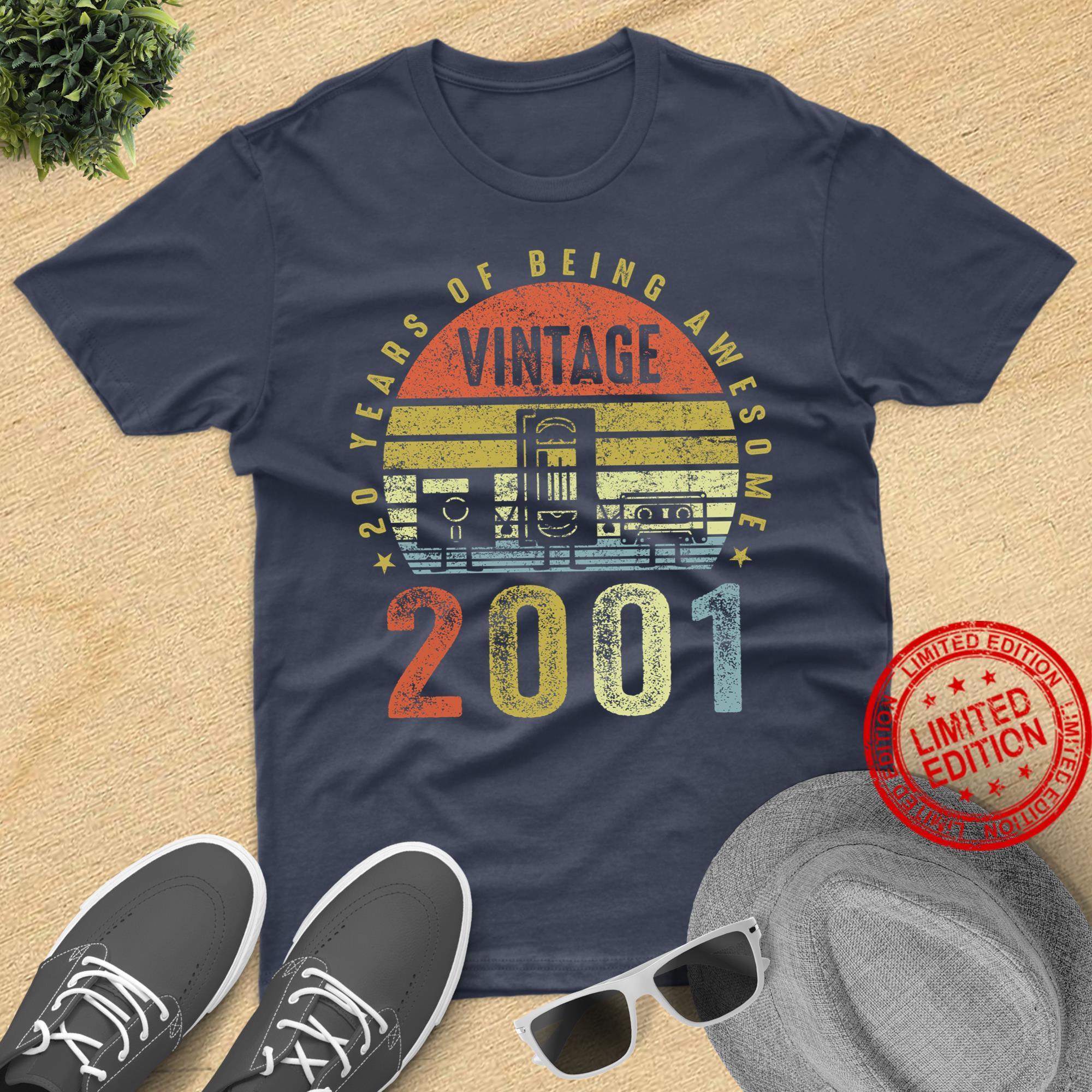 Vintage 2001 Cassette Tape Birthday Gift Shirt