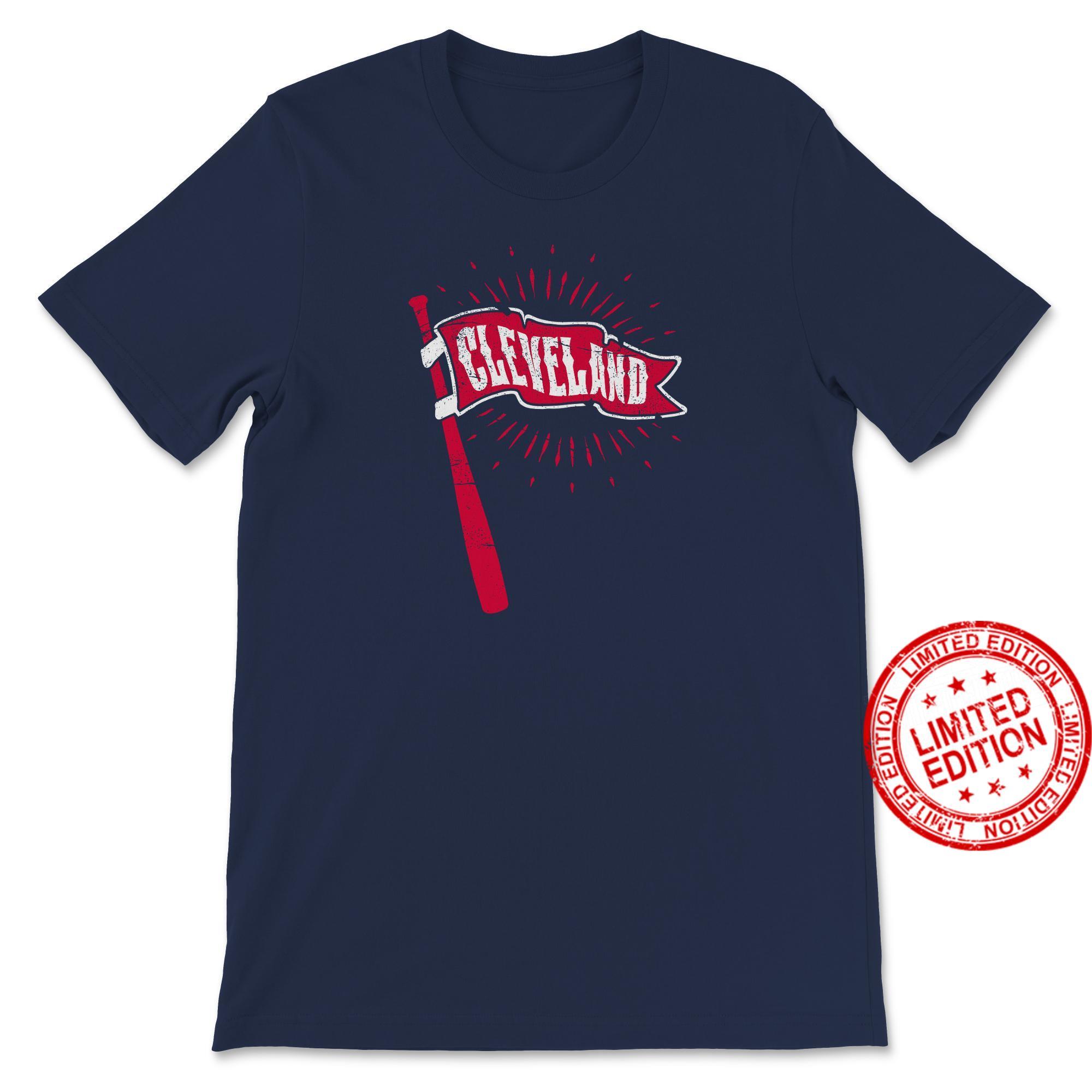 Vintage Cleveland Baseball Pennant and Bat Shirt