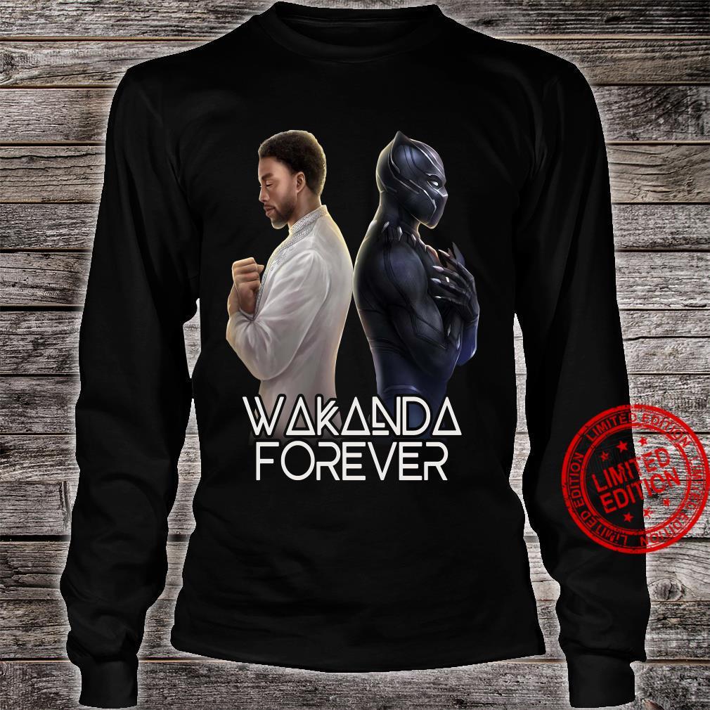 Wakanda Forever Chadwick Boseman Black Panther Shirt long sleeved