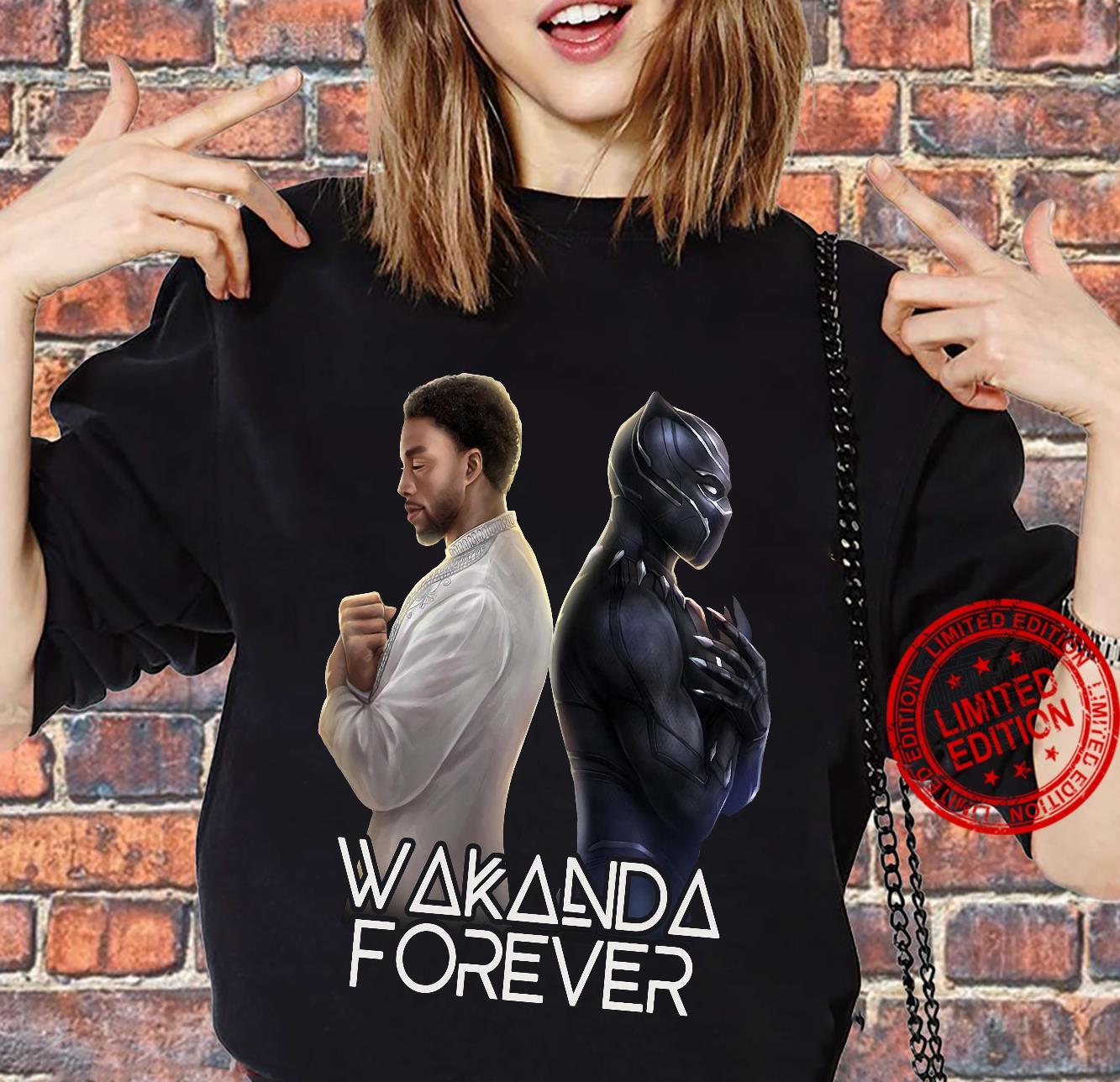 Wakanda Forever Chadwick Boseman Black Panther Shirt sweater