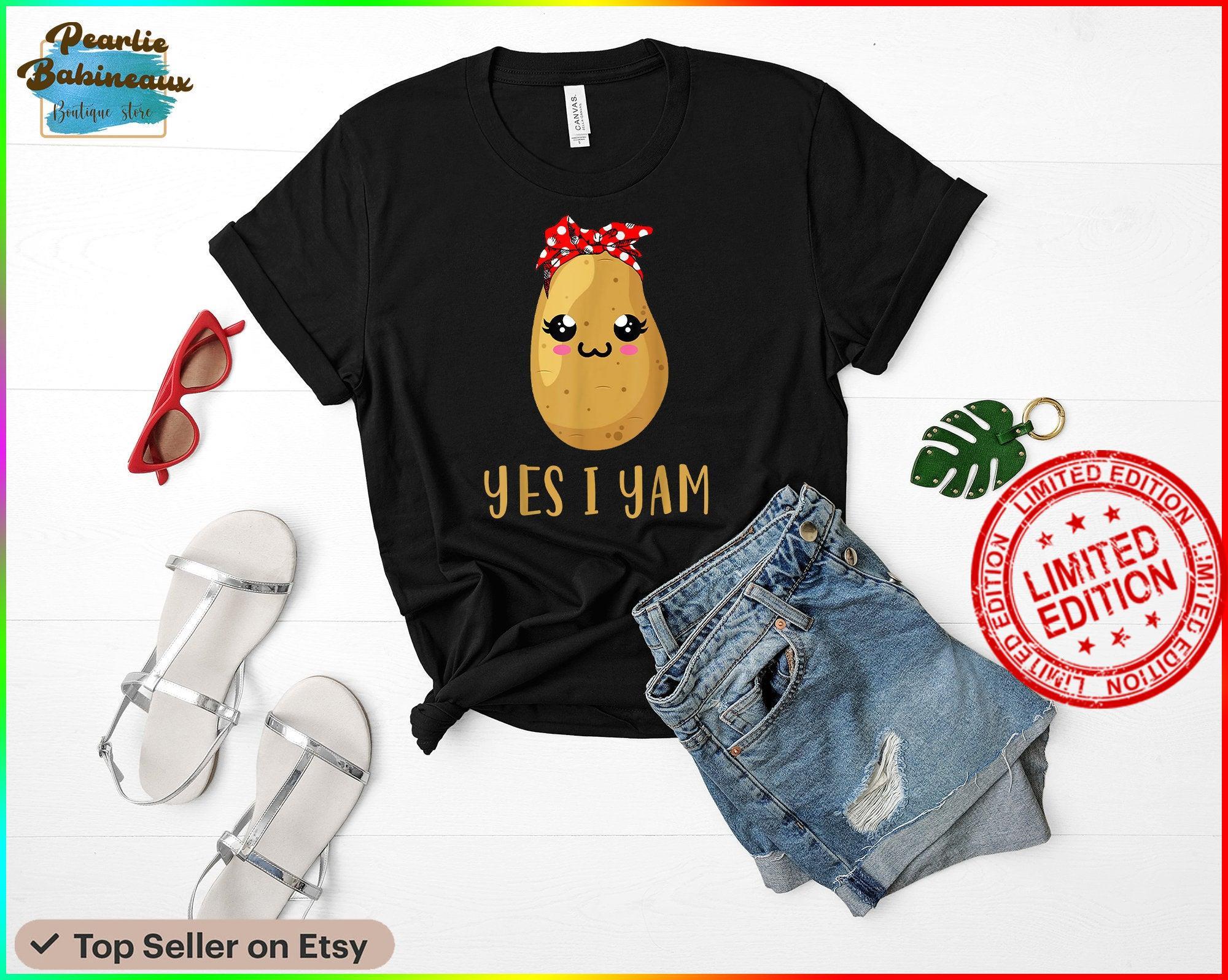 Yes I Yam Funny Thanksgiving Potato Lover Potato Couple Shirt