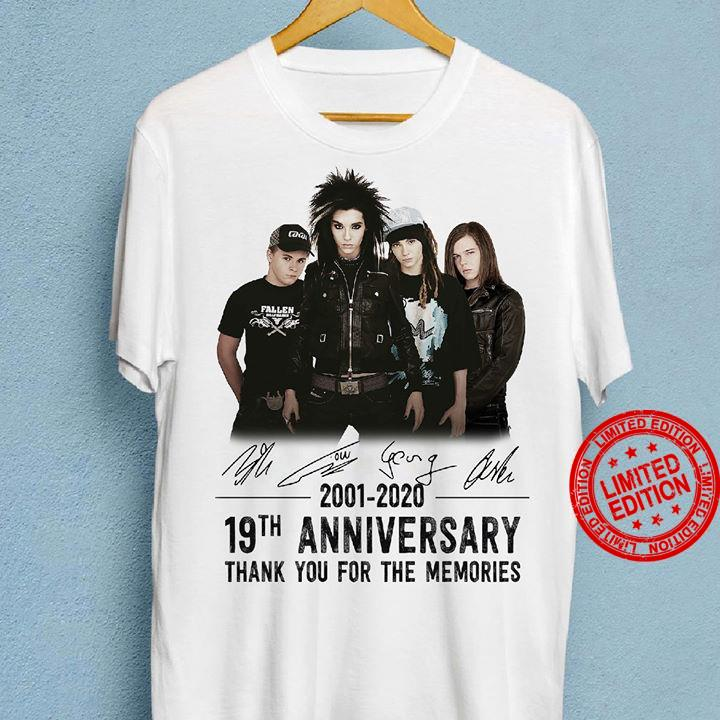 2001-2020 19th Anniversary Thank You For The Memories Shirt
