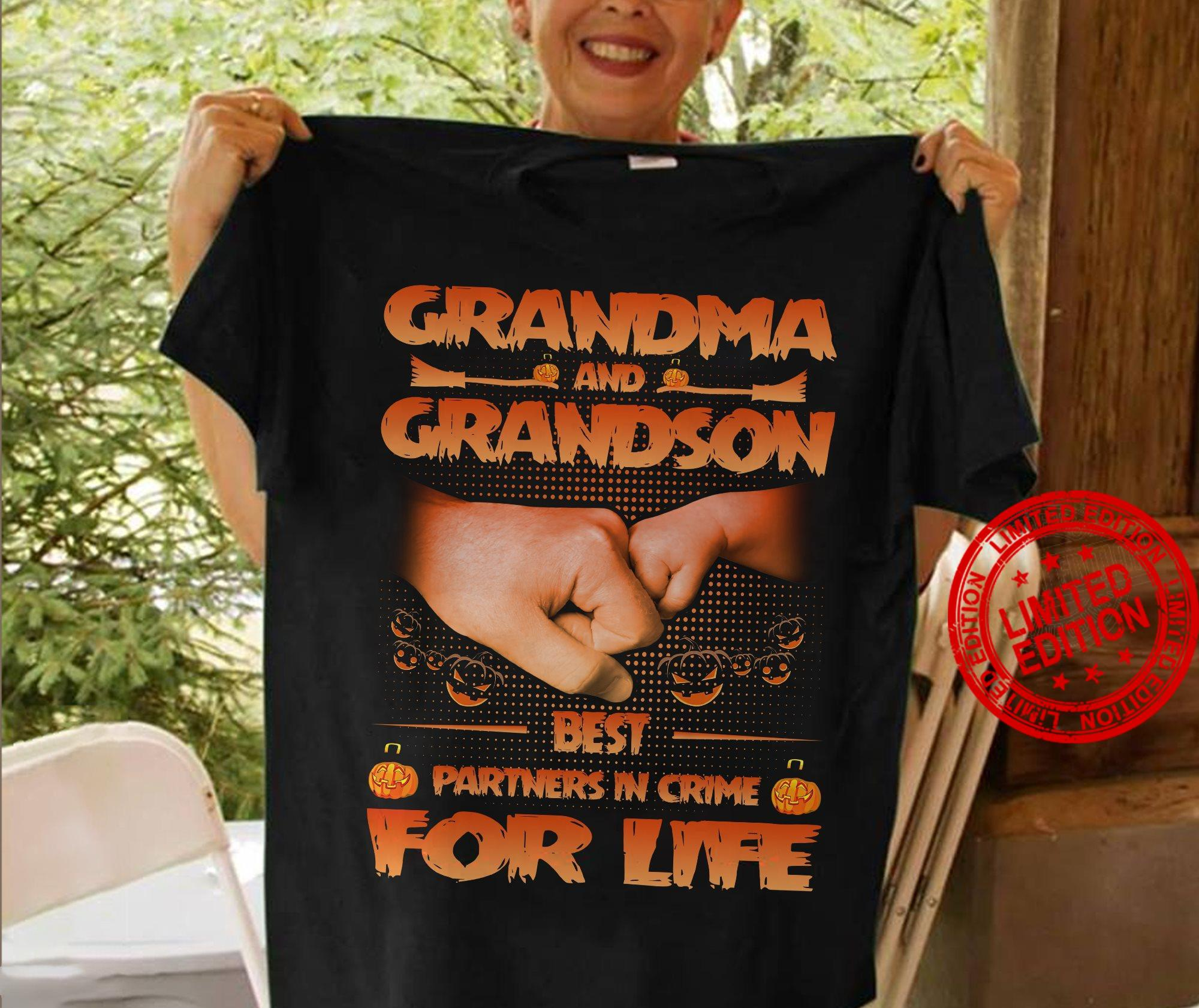 Grandma And Grandson Best Partners In Crime For Life Shirt