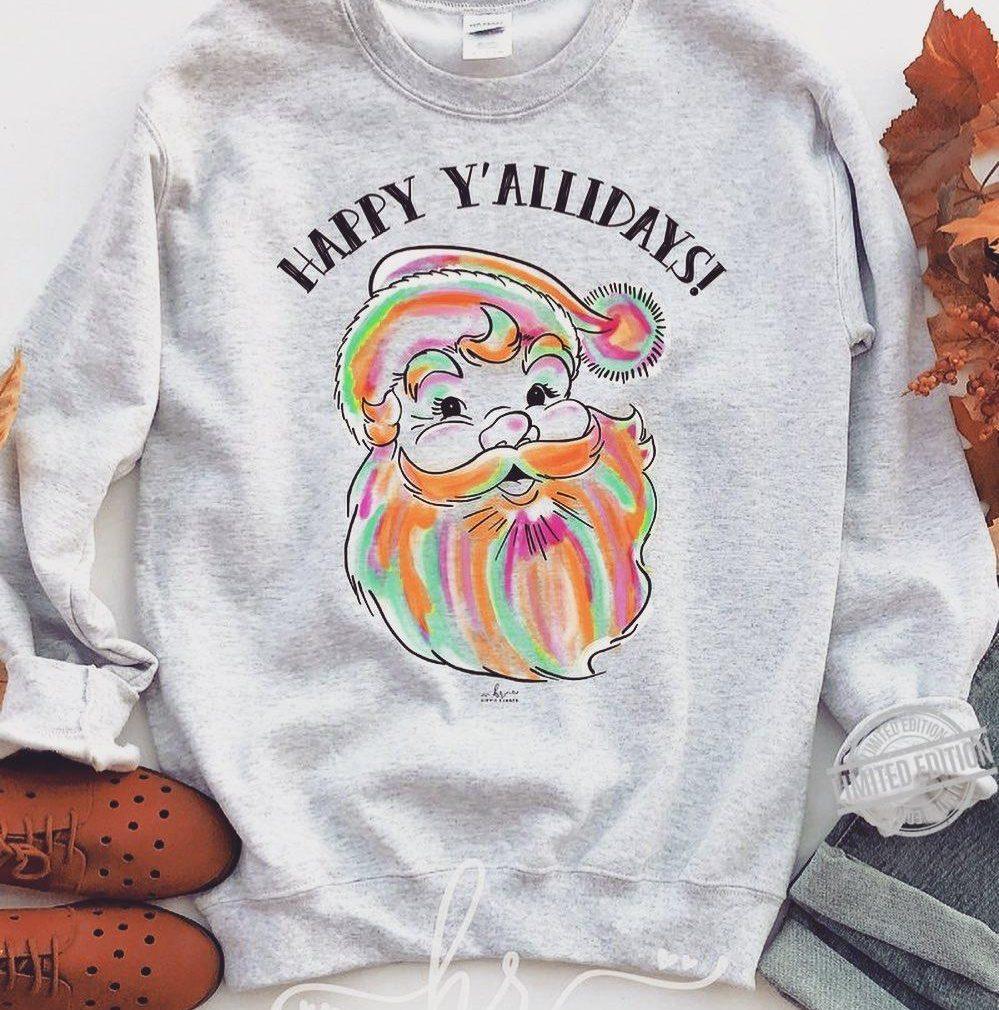Happy Y'allidays Santa Christmas Shirt