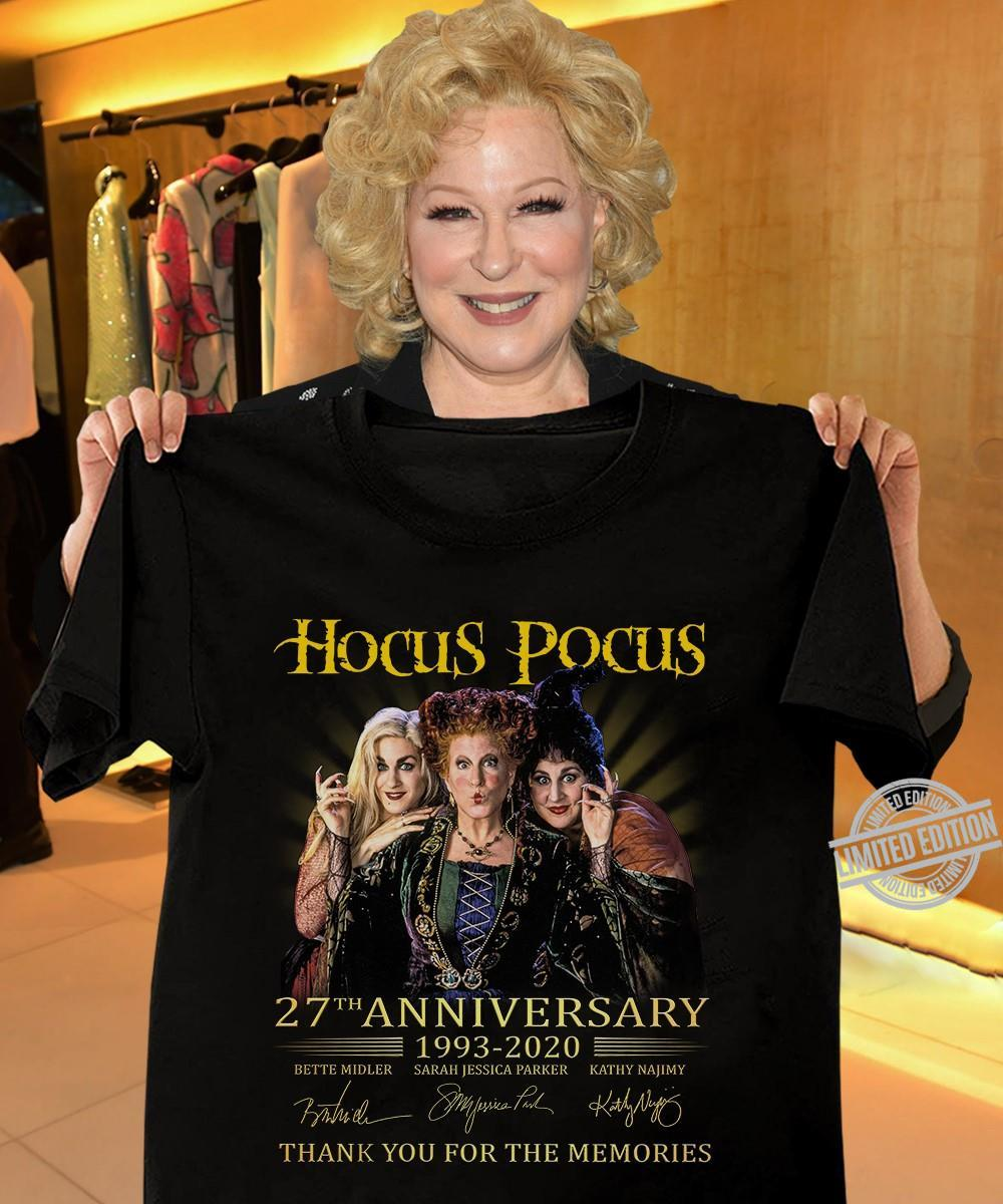 Hocus Pocus 27th Anniversary 1993-2020 Thank You For The Memories Shirt