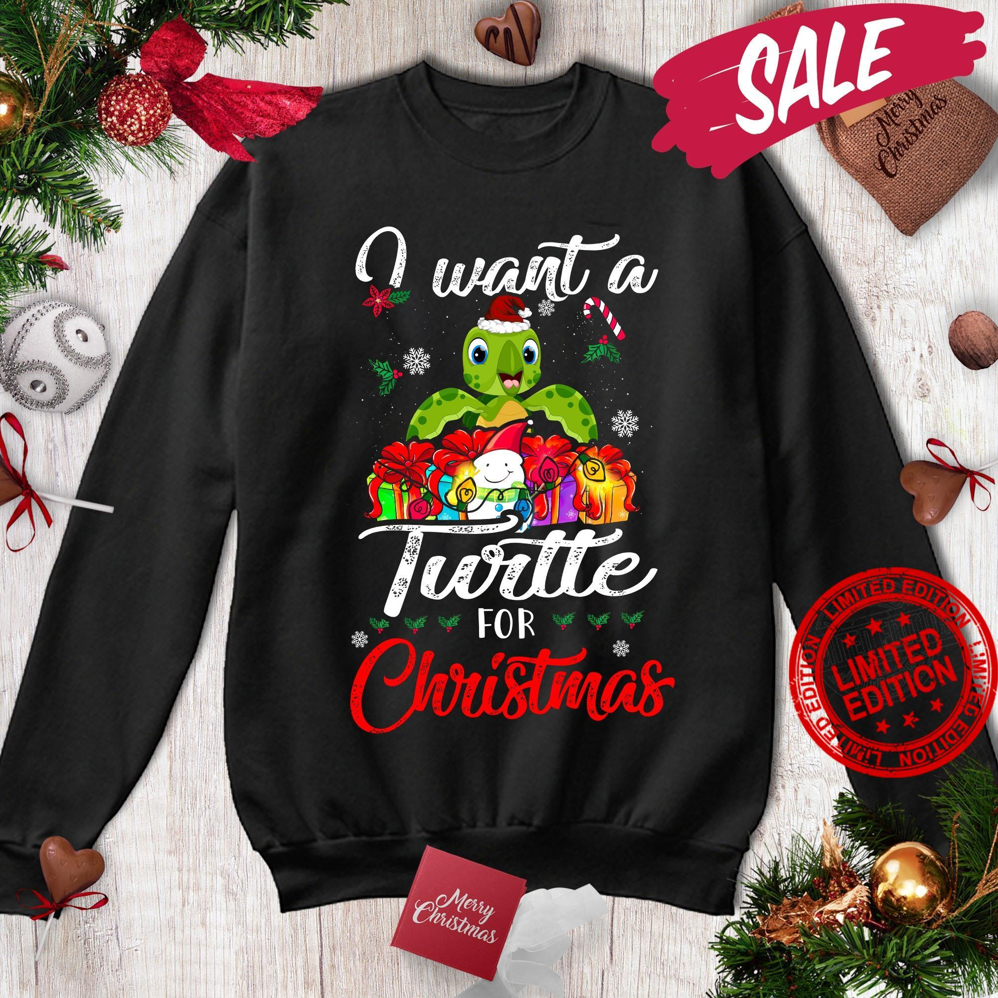 I Want A Turtle For Christmas Shirt