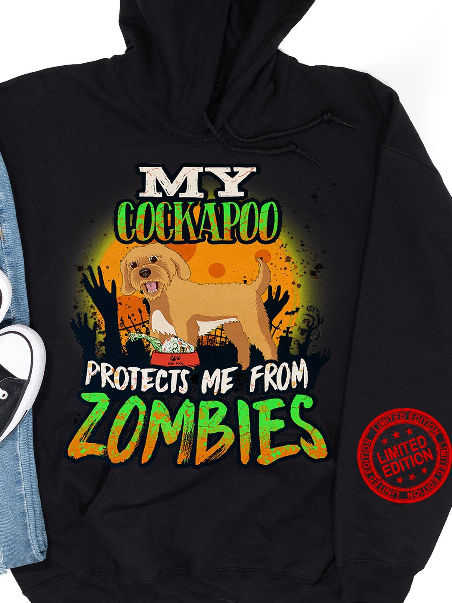 My Cockapoo Protects Me From Zombies Shirt