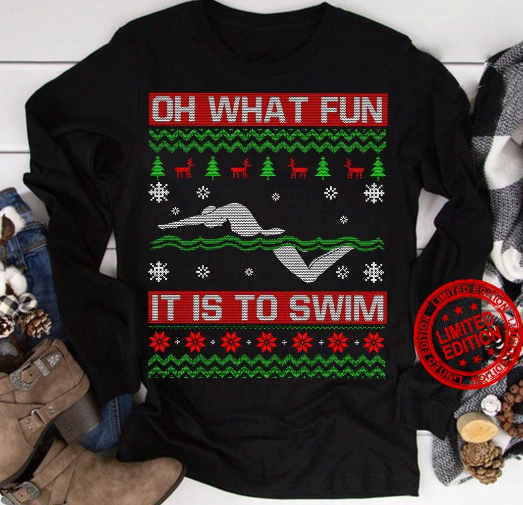 Oh What Fun It Is To Swim Shirt