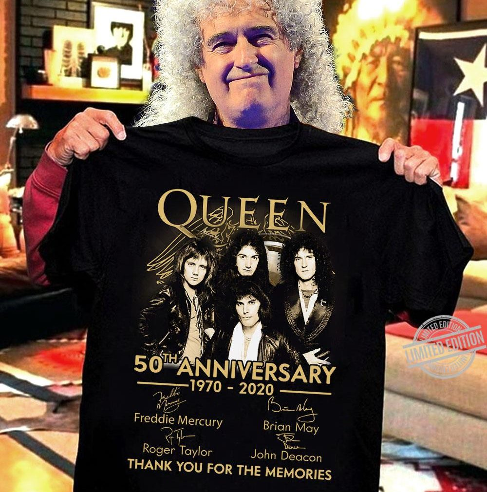 Queen 50th Anniversary Thank You For The Memories Shirt