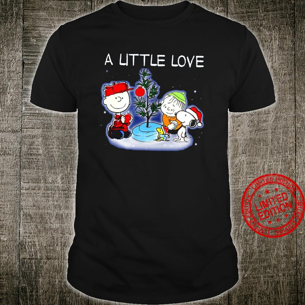 Snoopy And Charlie A Little Love Shirt unisex