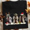 Star Wars Yoda Reindeer Christmas Light And Santa Shirt