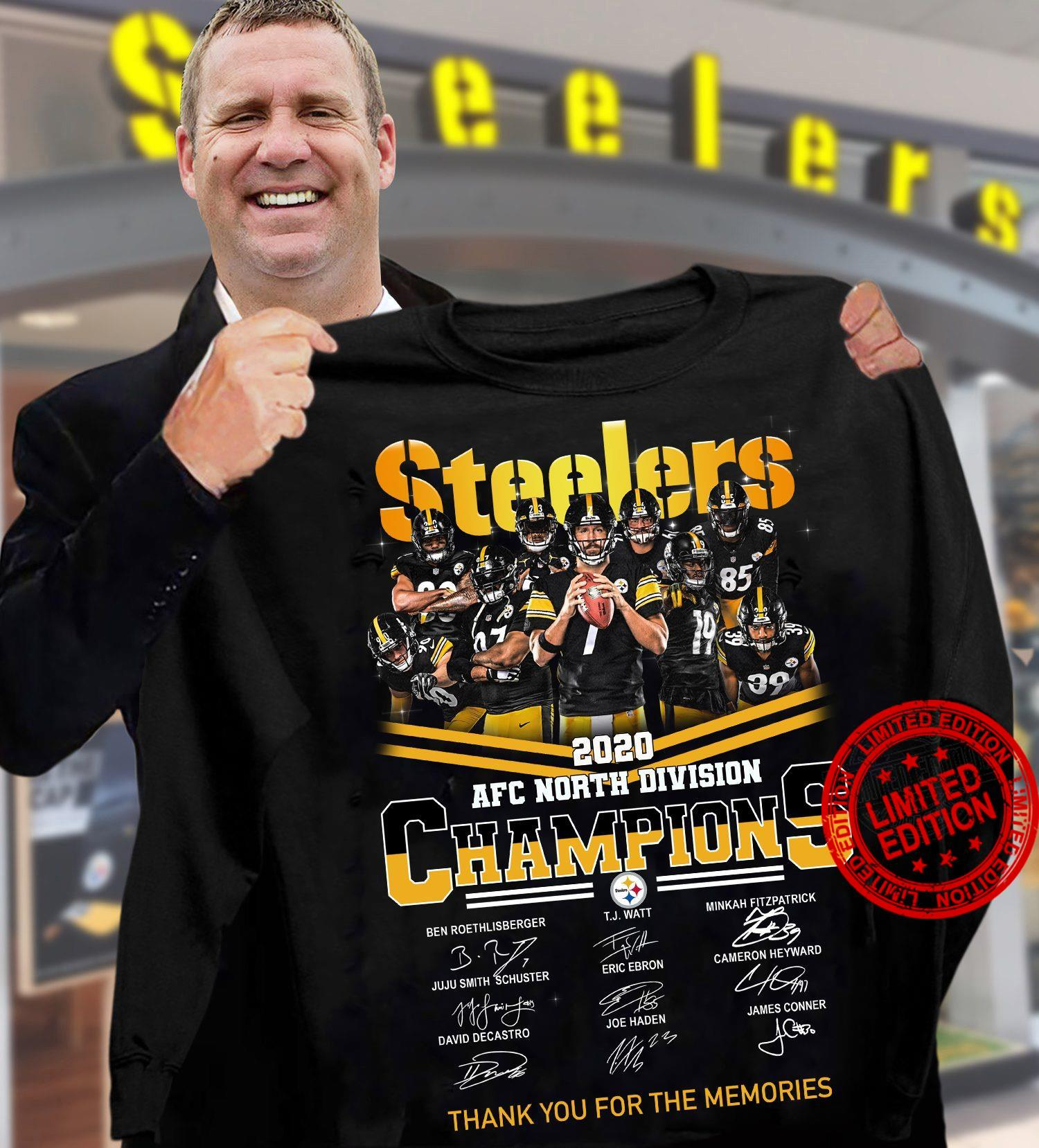 Steelers 2020 AFC North Division Champions Shirt