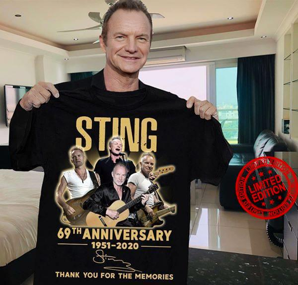 Sting 69th Anniversary Thank You For The Memories 1951 2020 Shirt
